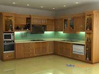 Tủ bếp gỗ xoan đào mẫu 10