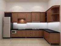 Tủ bếp gỗ xoan đào mẫu 09