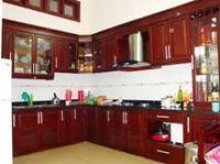 Tủ bếp gỗ xoan đào mẫu 08