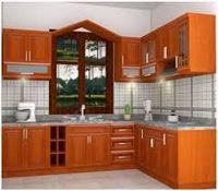 Tủ bếp gỗ xoan đào mẫu 07