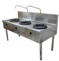 Bàn bếp công nghiệp có vòi rửa