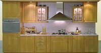 Tủ bếp gỗ xoan đào mẫu 02