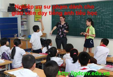 Chứng chỉ nghiệp vụ Sư phạm cho giáo viên dạy Tiếng Anh tiểu học