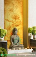 Nét hồn Việt trong những bức tranh hoa sen treo phòng thờ