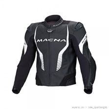 Áo Mô tô Macna, đen trắng.