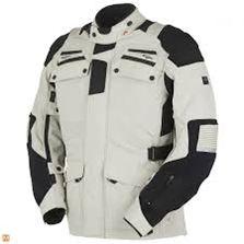 Áo môtô Richa, đen trắng.