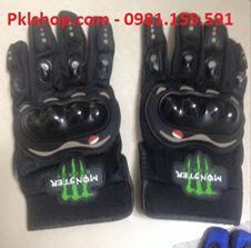 Găng tay full ngón Monster màu đen