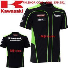 Áo ngắn tay Kawasaki đen phối xanh