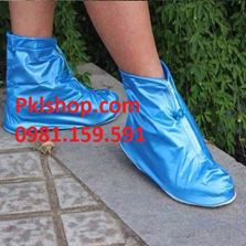 giầy đi mưa cổ ngắn chông trơn trượt màu xanh
