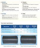 Ống gân xoắn và gân xoắn đục lỗ HDPE