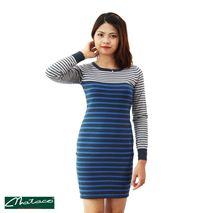 Váy kẻ toàn thân 3 màu