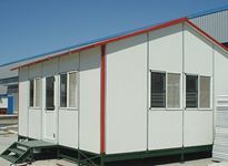 Houses built using lightweight materials assembled