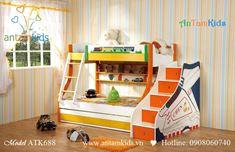Giường 3 tầng trẻ em ATK688
