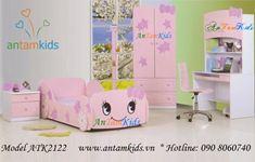 Phòng ngủ Hello Kitty hồng ngộ nghĩnh ATK2122
