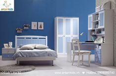 Phòng ngủ màu xanh Lina 92