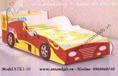 Giường xe hơi màu đỏ ATK1-10