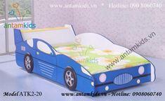 Giường xe hơi màu xanh ATK2-20