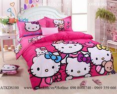 Chăn mền drap Hello Kitty ATKDS100 xinh xắn đáng yêu