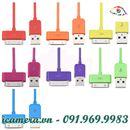 Cáp lụa USB cho iPhone, iPad, iPod nhiều màu