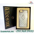 Ốp iPhone 5 đính đá Jusney - ốp lưng đính đá cho iPhone 5 (hình thoi bạc)