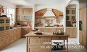 Làm thế nào để trang trí nhà bếp với tủ gỗ sồi?