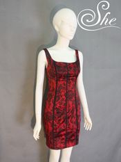 Đầm D7028 đỏ