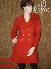 Áo măng tô M1211 đỏ cam