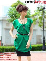 Áo váy SM17 Xanh lá