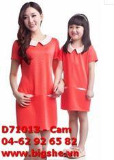 Đầm D71013 Cam