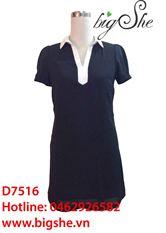 Đầm suông hai lớp dáng A D7516