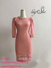 Đầm ren hồng san hô
