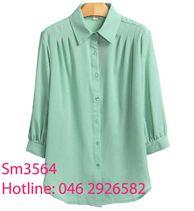 Sơ mi công sở xanh mint SM3564