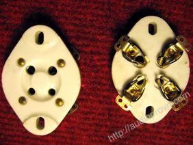 4 pin Tube socket