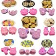 Bộ khuôn cắt bánh qui (cookie cutter) hoạt hình (9 mẫu)