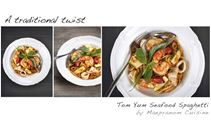 Tom Yum Seafood Spaghetti