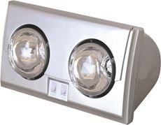 Đèn sưởi nhà tắm Kottmann  (2 bóng bạc)