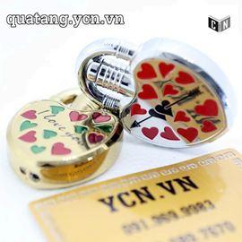 Bật lửa trái tim bật nắp hộp quẹt tình yêu quà tặng Valentine ý nghĩa