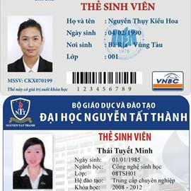 In thẻ sinh viên PVC chất lượng cao lấy nhanh, miễn phí thiết kế