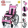 Xe lăn trẻ em hoa văn có phanh cao cấp yuwell/YuYue 5000