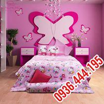 Chăn Ga Gối Hello Kitty SôngHồng-K14-016 1m8x2m