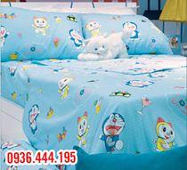 Chăn xuân thu Sông Hồng Doraemon kích thước 2mx2m2