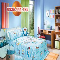 Chăn Ga Gối Sông Hồng Doraemon xanh kích thước 1m6x2m SH-J13-001