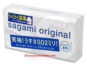 Bao cao su Sagami Original 0.02 Quick siêu mỏng (hộp 6c)