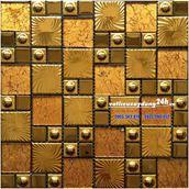 Gạch mosaic mạ vàng MV-204