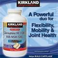 Kirkland Signature Glucosamin HCL & MSM 1500mg. Hp 375 vin