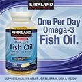 Kirkland Signature™ Fish Oil Omega-3 1200 mg. Hộp 180 viên