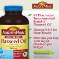 Du ht lanh Nature Made Flaxseed oil 1.400 mg chm sc ton din sc khe tim mch. Hp 300 vin nang mm