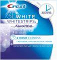 Miếng dán làm trắng răng Crest 3D White Whitestrips 2 Hour Express. Hộp 2 miếng dán
