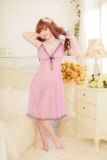 Váy Ngủ Dáng Dài Bigsize 0478 Hồng