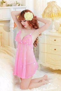 Đầm Voan Sexy Hồng 0319